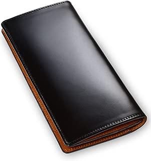 [タバラット] 日本製 長財布 水染め コードバン 本革 かぶせ式 小銭入れ付き メンズ Tps-034