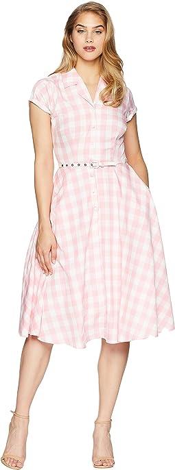 Unique Vintage Alexis Short Sleeve Swing Dress