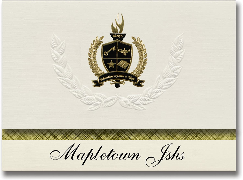 Signature Ankündigungen mapletown jshs (GrünSBGold (, PA) Graduation Ankündigungen, Presidential Stil, Elite Paket 25 Stück mit Gold & Schwarz Metallic Folie Dichtung B078VCSMHX | Online Kaufen