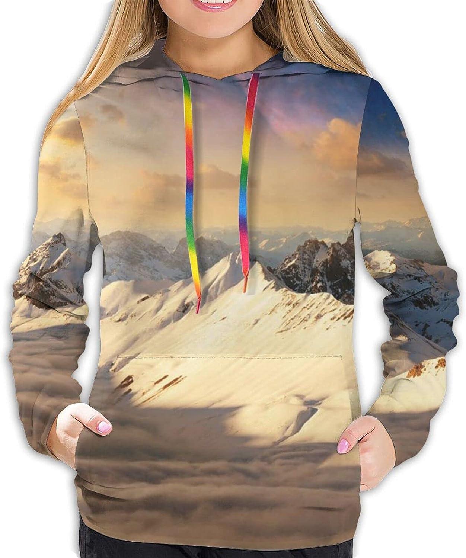 Stylish Snow mountain at dusk Large special price !! Sweat Unisex Print Superlatite 3D Slim