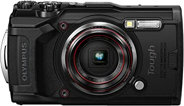 Olympus TG – 6 Black Water Proof Camera, 12 MP, 4X Zoom Lens, LCD Rear Screen