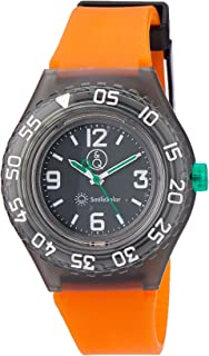 Q&Q Boys RP16J006Y Year-Round Analog Solar Powered Orange Watch