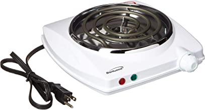 Brentwood TS-322 1000w Single Electric Burner, White