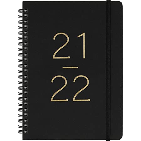 """2021-2022 Diary - Weekly & Monthly Diary with Tabs, July 2021-June 2022, Flexible Cover with Twin-Wire Binding, Banded, 6.45"""" x 8.45"""""""