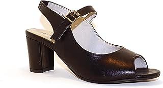 Hype Women's Heeled Slingback Peep Toe Casual Sandal ZD10967 (Viola)