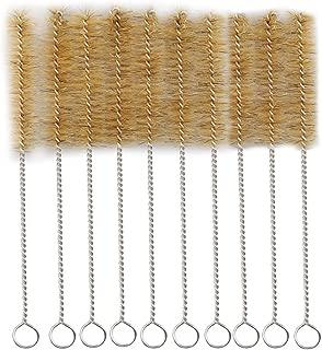 Tube Bottle Wash Cleaning Brush Tan Bristles Radial Tip for Lab Set Chemistry Test 8inch (10 pcs)