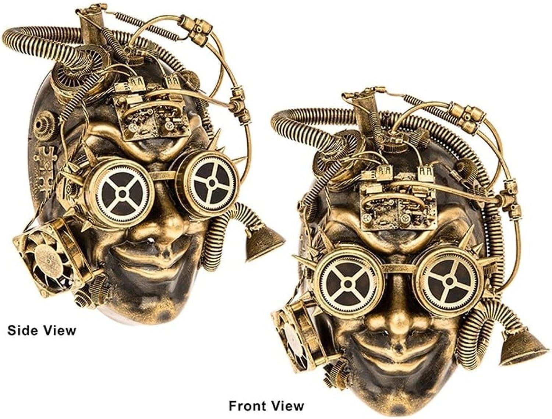 Steampunk Full Face Mask 275032 Cosplay, Retro, LARP, Costume