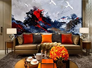 Mznm Photo Wallpaper 3D Wall Murals Wallpaper Flying Up Wings Hovering Oil Painting Background Wall Home Decoration Painti...
