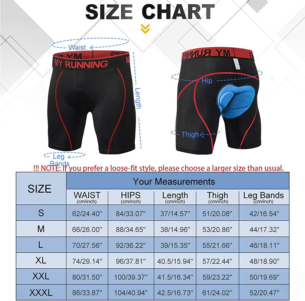 3D Padded Bike Shorts Mens Cycling Underwear Quick Dry Breathable Mountain Bicycle Tights Leggings
