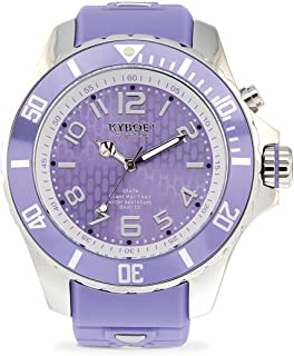 KYBOE! Quartz Stainless Steel and Silicone Watch (Model: Silver Treat)
