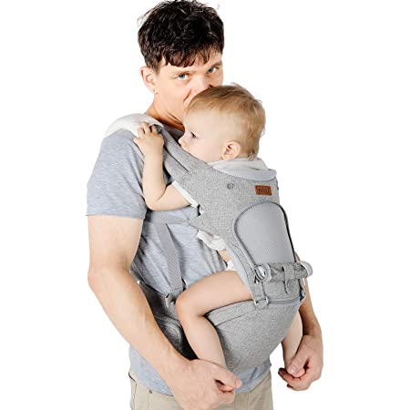 Rose support de t/ête r/églable pour nouveau-n/é et enfant de 0 /à 36 mois multiposition: dorsal ventral jusqu/à 30 kg SONARIN Porte-b/éb/é ergonomique avec Si/ège de Hanche//Pur coton