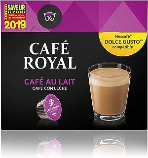 Café Royal Café au Lait Nouvelle Génération- 16 dosettes Compatibles avec le Système NESCAFE®* Dolce Gusto® - Pack de 3
