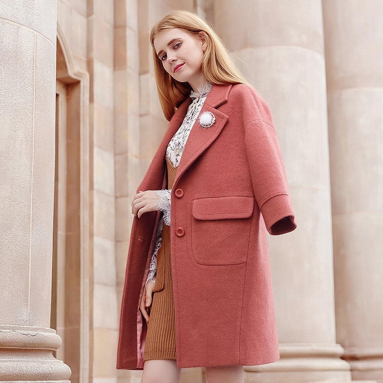 LD Autumn and Winter Women 'S Solid color Lapel Thick Coat Coat Temperament Coat