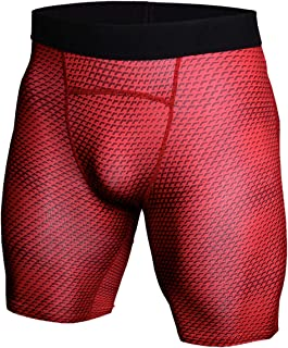 NEWFINE Men's Snake Compression Pants Workout Baselayer Cool Dry Shorts Athletic Running Tights Leggings