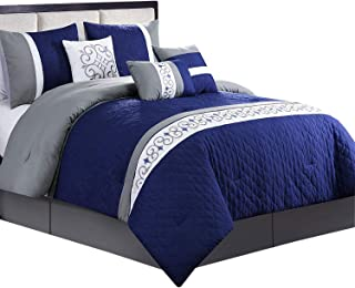 Best blue and gray king comforter set Reviews