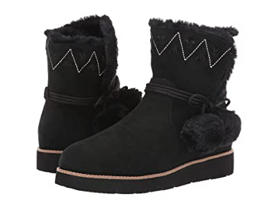 Jack Rogers Vera Suede Pom-Pom Boot (Black) Women