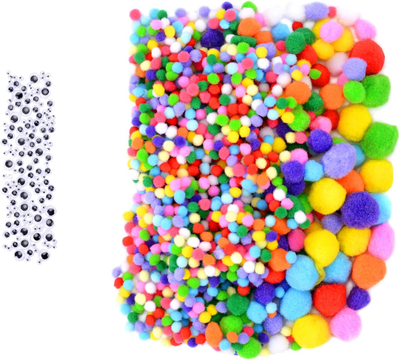 ZHAOER 1300 Pieces Outlet ☆ Free Shipping Pom 70% OFF Outlet Poms 5 for Sizes Colors Pompoms Assorted