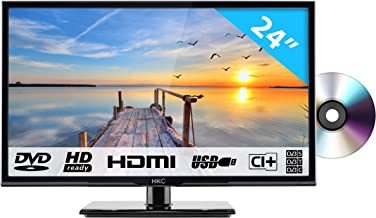 HKC 24C2NBD (24 Pulgadas) Televisor LED con Reproductor de DVD (HD Ready, Triple Tuner, Ci+, HDMI, Reproductor de Medios a través de USB 2.0) [Clase de eficiencia energética A]