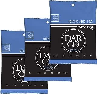 Martin D220 Darco Acoustic 92/8 Phosphor Bronze Lights 12-54 (3-Pack Bundle)