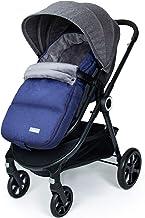 Orzbow saco silla paseo invierno universal para Cochecito y Silla de paseo,saco carro bebe - impermeable y cortavientos (0-12 meses,Azul)