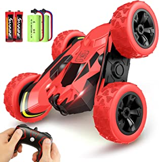 RC Car Remote Control Stunt Car, 4WD 2.4Ghz Remote Control Car Toy Double Sided Rotating Vehicles 360° Flips, Kids Toy Car...
