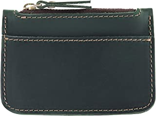 Passport Wallet Genuine Leather Cowhide Card Case Pocket with Zipper Coin Purse
