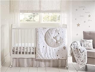 Wendy Bellissimo 4pc Nursery Bedding Baby Crib Bedding Set - Elephant in Grey