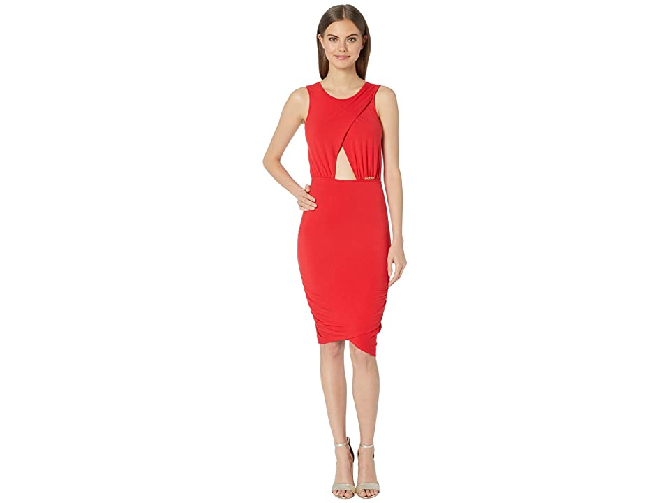 Bebe Keyhole Dress (Red) Women