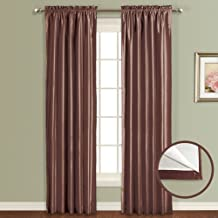 United Curtain Lincoln Window Curtain Panel, 54 by 84-Inch, Chocolate