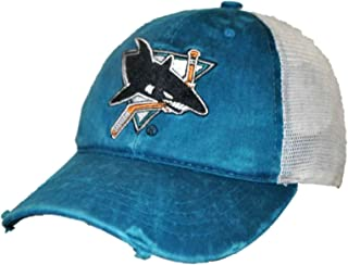 San Jose Sharks Retro Brand Teal Worn Mesh Vintage Adjustable Snapback Hat Cap