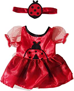 Lady Bug Costume Outfit Teddy Bear Clothes Fit 14