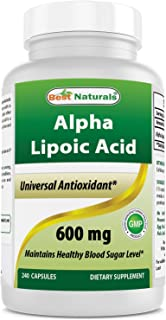 Best Naturals Est Alpha Liopic Acid 600 Mg Capsule with Powerful Antioxidant, 240 Count