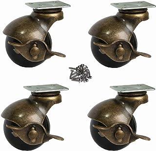 OK5STAR - Ruedas giratorias de 360 grados, 4 unidades, 2 Inch With Brake