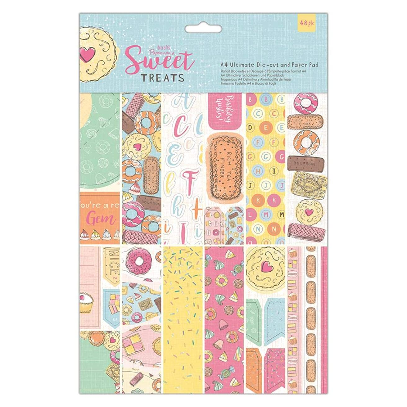 Papermania A4 Ultimate Die-cut & Paper Pad (48 Pack) - Sweet Treats