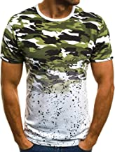 Tops for Mens, 2019 Men Summer T Shirt Camouflage Printed Short Sleeve Blouse