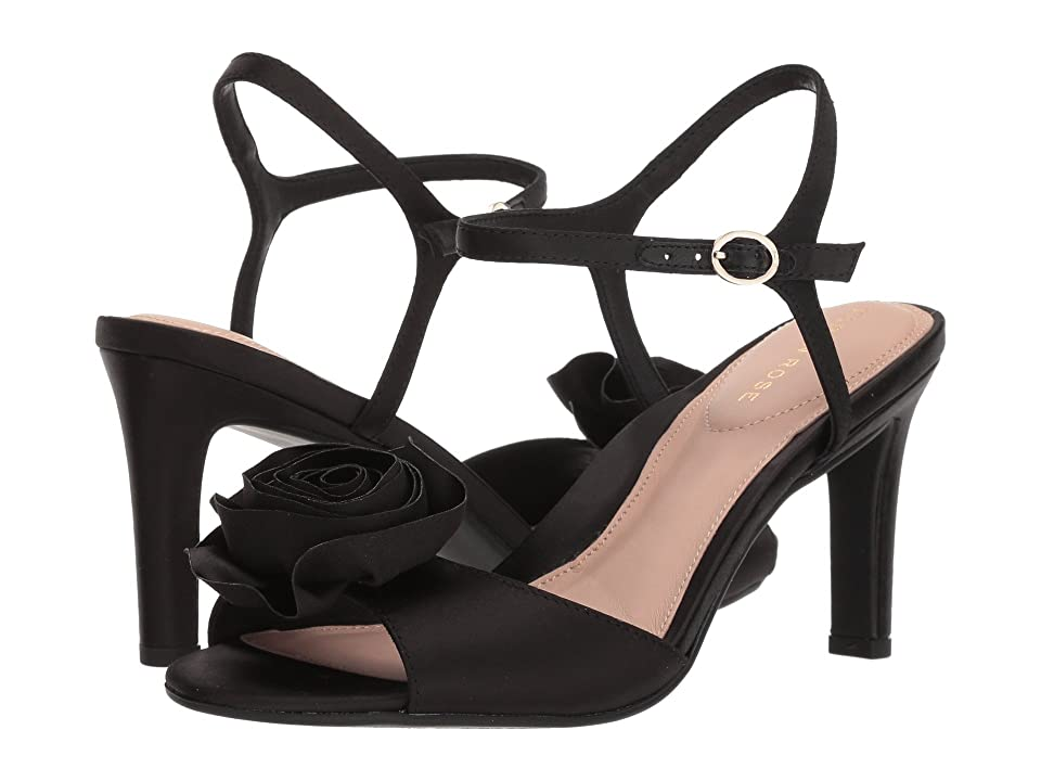 Taryn Rose Jacklyn (Black Satin) High Heels