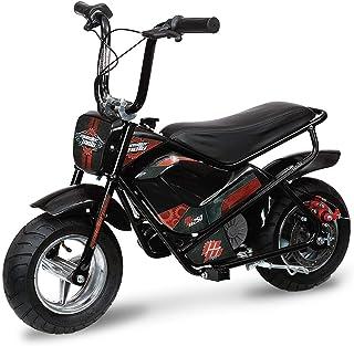 Mega Moto – Electric Mini Bike – 250W (MM-E250-PR)(Black w/ Pink and Red..