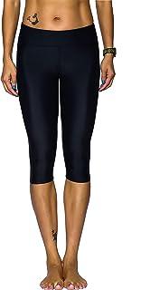 Nonwe Women's Water Sports Swimwear UPF 50+ Skinny Swim Capri Shorts