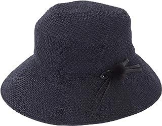 100%完全遮光 99%ではダメなんです!Rose Blanc(ロサブラン) UV 帽子 アイスランドウール コサージュ付 ハット レディース 秋冬モデル