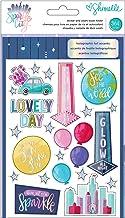 American Crafts Shimelle Sparkle City Sticker & Washi Folder 364/Pkg-
