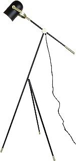 EQLight EQITFB4 Industrial Directional 1-Light Tripod Floor Lamp, Black, Gold