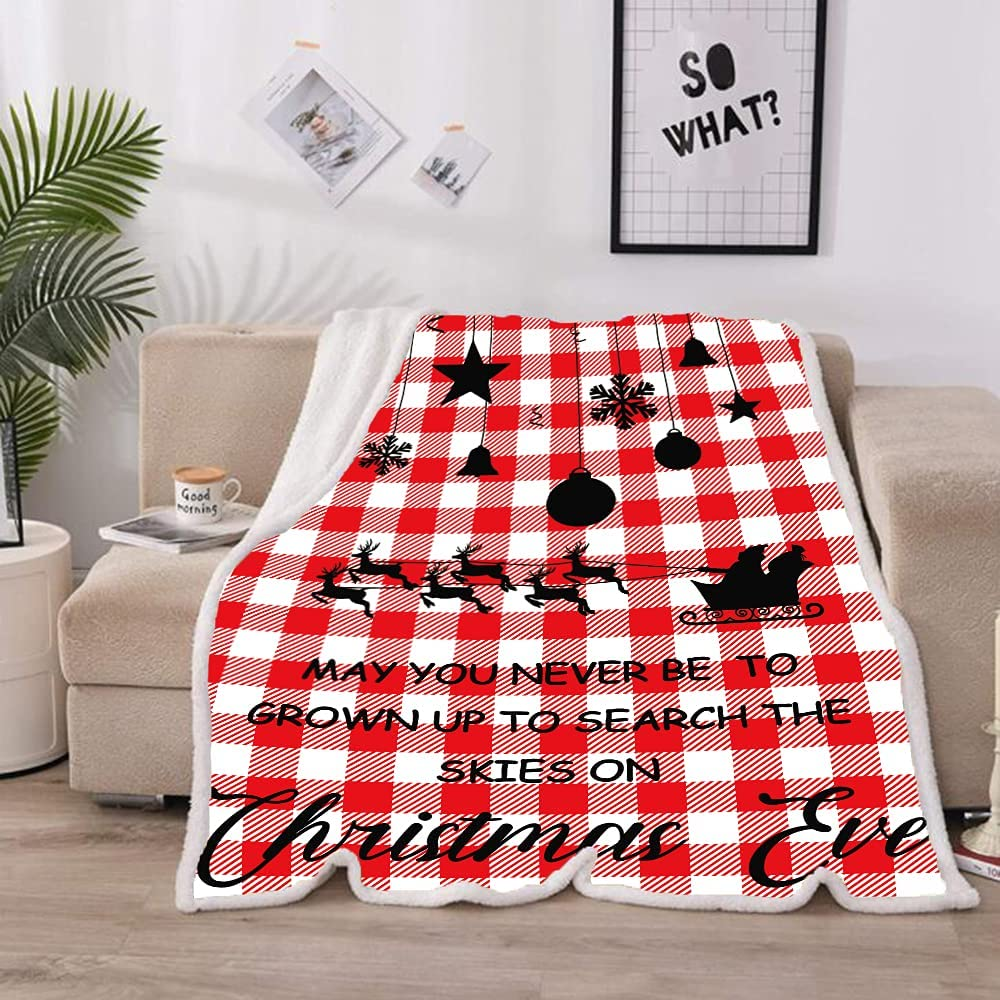 Red and White Max 69% OFF Plaid Reindeer Super Fluffy Max 45% OFF Soft Warm Comfy Cozy P