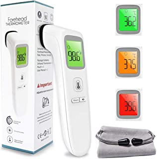 Digital Forehead Themometer Non-Touch for Adults, Children, Baby, Infrared Sensors for Fast Clinically Accurate Readings L...