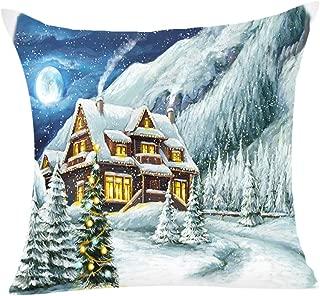 BiuBuy 4PCS Halloween Pillow Cover Decor Pillow Case Sofa Waist Throw Cushion Cover for Bedroom Chair Car