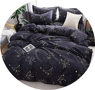 Galaxy Star Bed Linen Constellation Duvet Cover Bedding Set Twin Full Queen King Size 3/4Pcs Pillowcases Bed Sheet59,1,Twin (Big Sheet)
