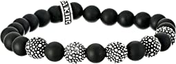 King Baby Studio - 8mm Onyx Bead Bracelet with 5 Stingray Beads