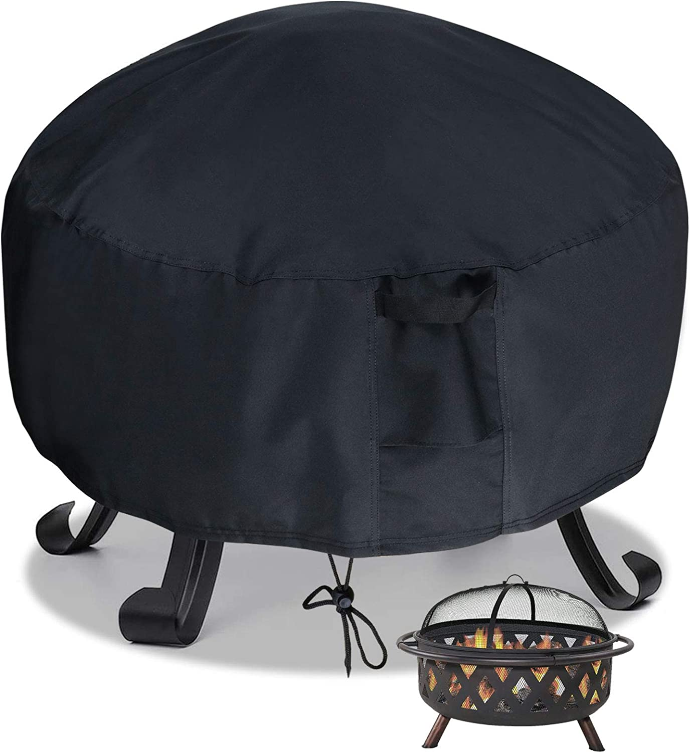 Saking Waterproof Fire Pit Cover OFFicial shop Round 30 Heavy 2021 spring and summer new 600D 12 inch - x