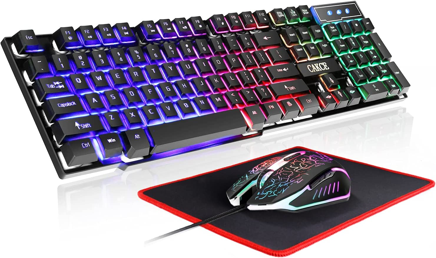 RGB Gaming Baltimore Mall Keyboard and Popular standard Colorful Mouse USB Backl LED Combo Wired
