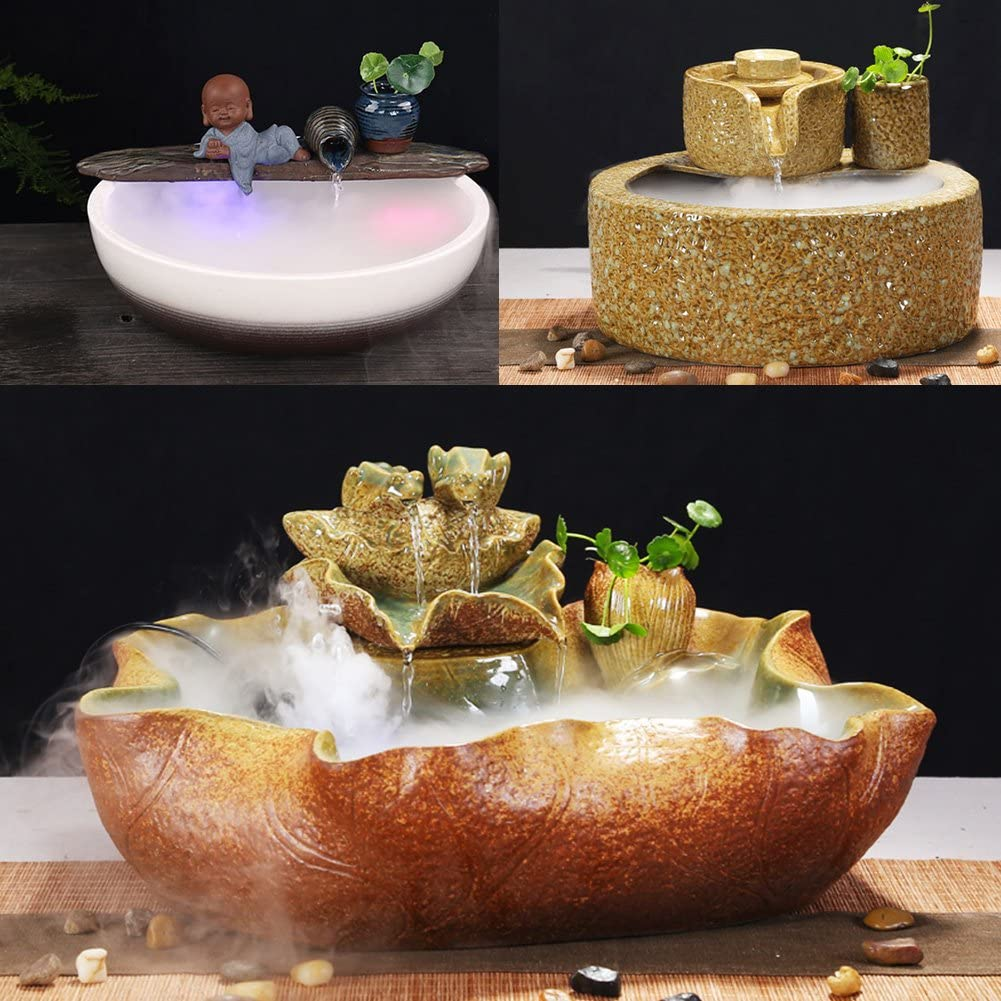 01 Fountain Foggers Indoor LED Humidifier, LED Mist Maker, Pond