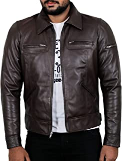 Laverapelle Men's Genuine Lambskin Leather Jacket (Black, Biker Jacket) - 1501200